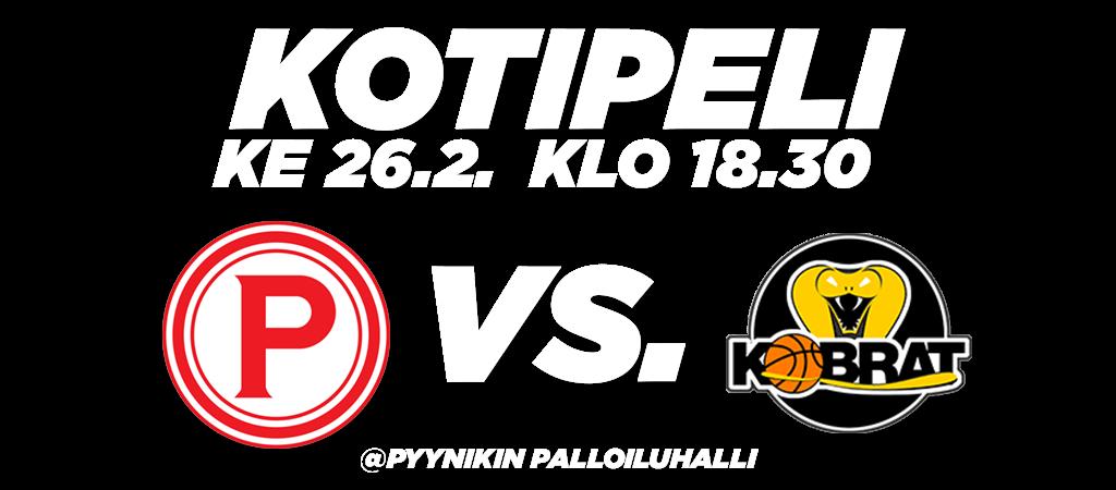 Pyrintö_kotipeli_slider_Korikobrat_26-02-2020